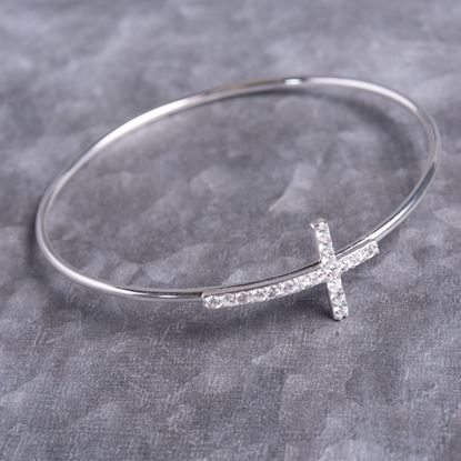 Picture of Cross Bangle - Silver