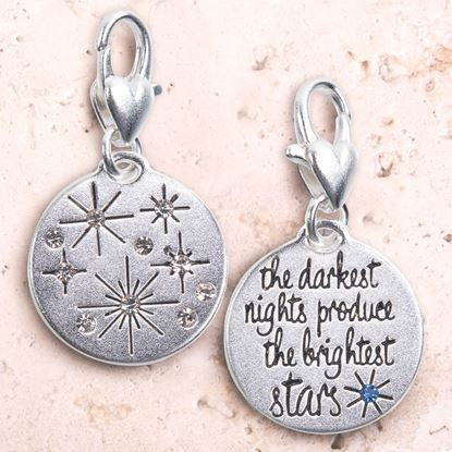 Picture of Silver 1-Tone Medallion - Stars