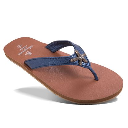 Picture of Aruba - Crystal Starfish Sandal - Pearlized Navy - Size Run A