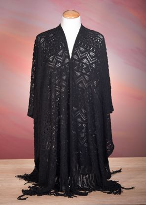 Picture of Crochet Poncho - Black