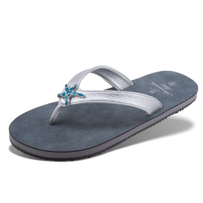 Picture of Havana - Enamel Starfish Sandal - Silver - Size Run A