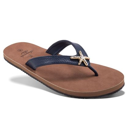 Picture of Havana - Enamel Starfish Sandal - Navy - Size Run A