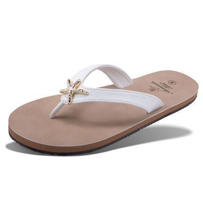 Picture of Havanna - Enamel Starfish Sandal - Ivory - Size Run B