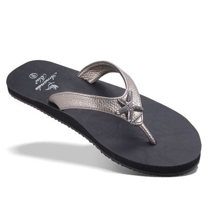 Picture of Aruba - Crystal Starfish Sandal - Gray Metallic - Size Run B