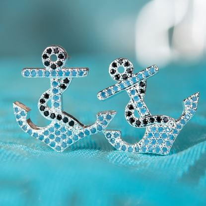 Picture of Anchor Earrings - Silver
