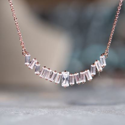 Picture of Baguette Necklace - Rose Gold