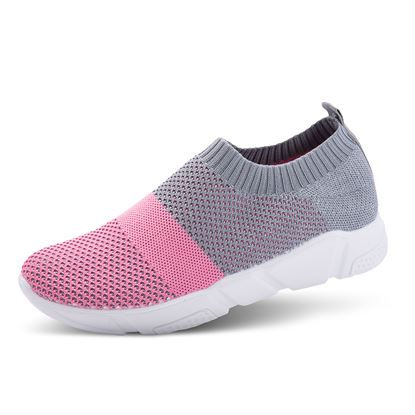 Picture of Athleisure Shoes - Size run 6-10 (9 pieces) - Gray/Pink Colorblock