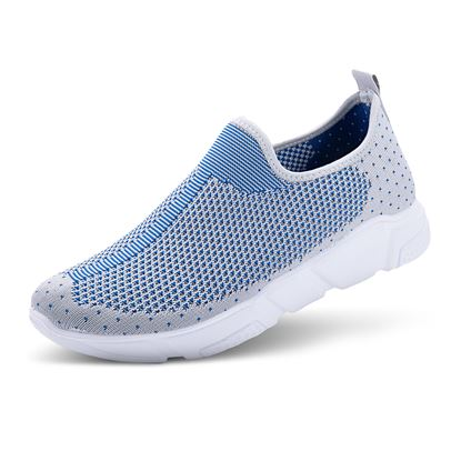 Picture of Athleisure Shoes - Size run 6-10 (9 pieces) - Gray/Blue Center Stripe
