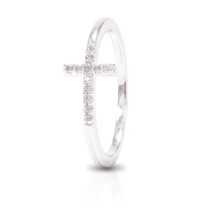 Picture of Cross Ring - Silver - Size 7