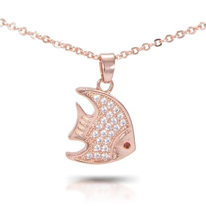 Picture of Angelfish Necklace - Rose Gold