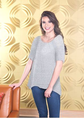 Picture of Fit & Flare Top Heather Gray