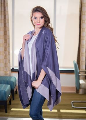 Picture of Reversible Wrap - Navy/Gray