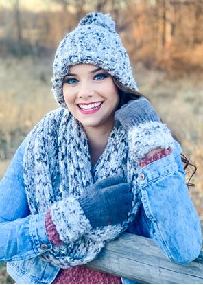 Picture of Flurry Pom Hat - Gray
