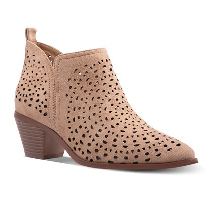 Picture of Magnolia Circle Laser-Cut Bootie 7-11 Size Run B (9 Pack) - Sand