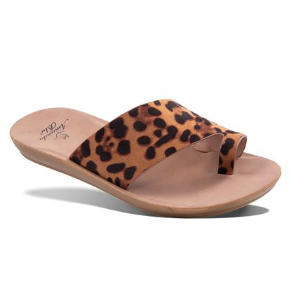 Picture of Nala Animal Toe Loop Slide 7-11 Size Run B (9 Pack) - Leopard