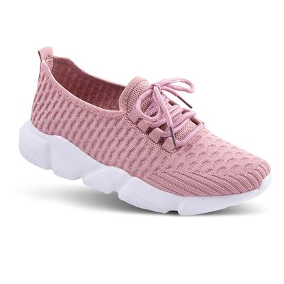 Picture of Laced Athleisure Sneaker 6-10 Size Run A (9 Pack) - Mauve Waffle Solid