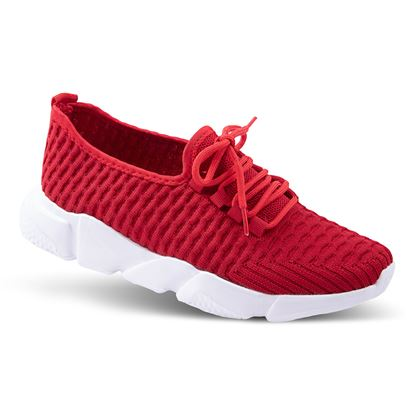 Picture of Laced Athleisure Sneaker 6-10 Size Run A (9 Pack) - Red Waffle Solid