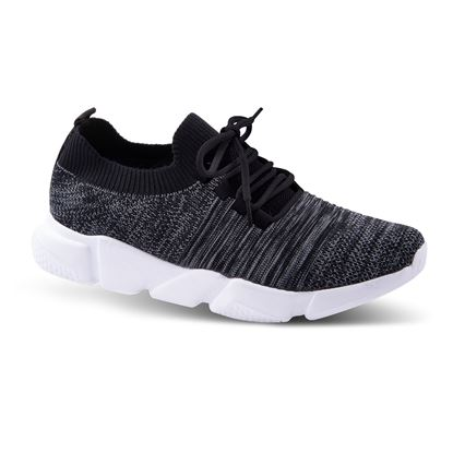 Picture of Laced Athleisure Sneaker 6-10 Size Run A (9 Pack) - Heathered Black Ridges