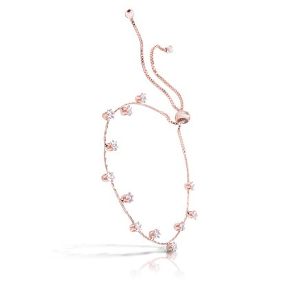 Picture of Droplet Pull-Cord Bracelet -Rosegold