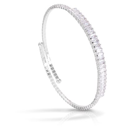 Picture of Baguette Single Spiral Bracelet -Rhodium