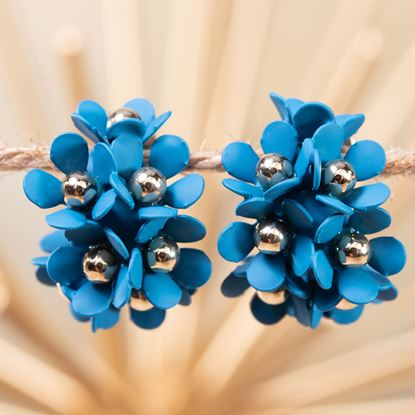 Picture of Cluster Flower Ear Hugger Earrings - Mykonos
