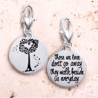 Picture of Heart Tree Silver 1-Tone Medallion