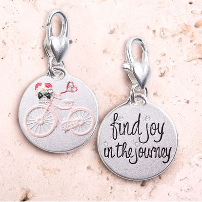 Picture of Flower Bike - Silver 1-Tone Medallion