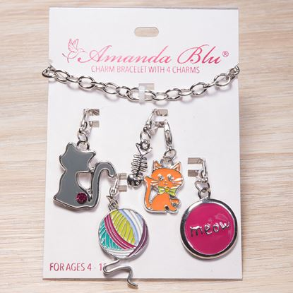 Picture of 4-Charm Card with Bracelet - Cat