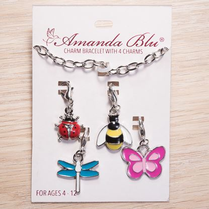 Picture of 4-Charm Card with Bracelet - Critters