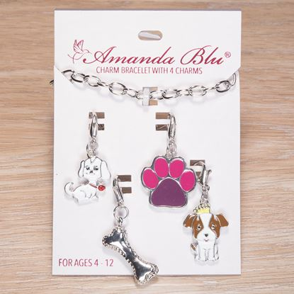 Picture of 4-Charm Card with Bracelet - Dog