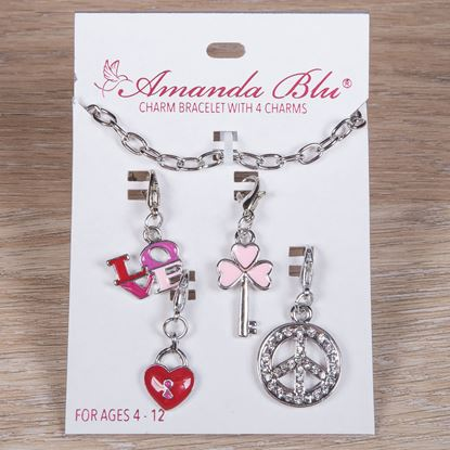 Picture of 4-Charm Card with Bracelet - Love