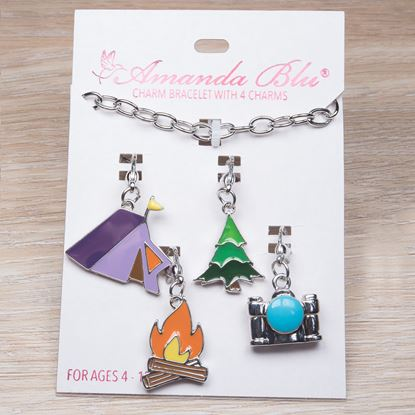 Picture of 4-Charm Card with Bracelet - Camping
