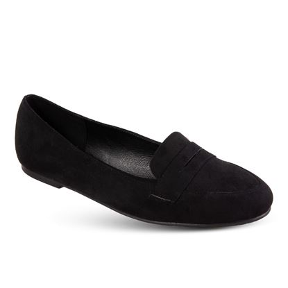 Picture of Faux-Suede Loafer - Size Run A (6-10) - Black