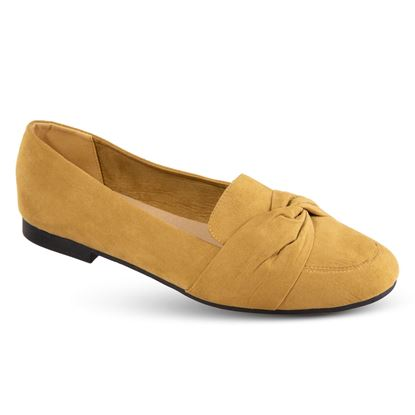 Picture of Faux-Suede Knotted Flat - Size Run A (6-10) - Golden