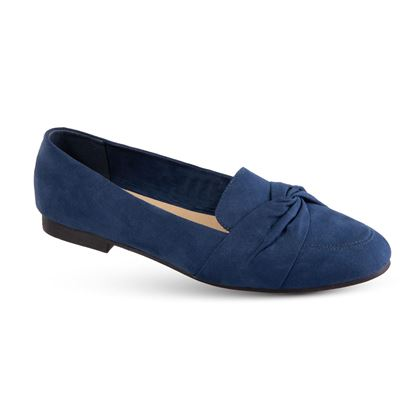 Picture of Faux-Suede Knotted Flat - Size Run A (6-10) - Navy