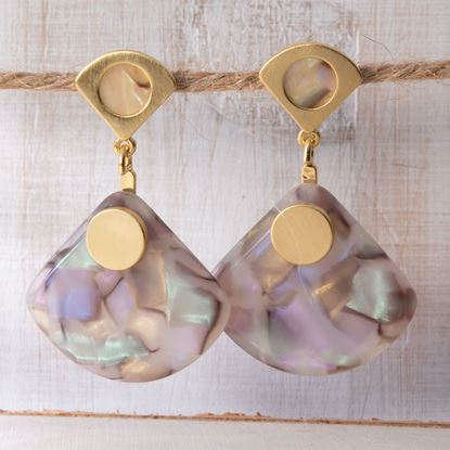 Picture of Fan Drop Earrings - Blush Multi
