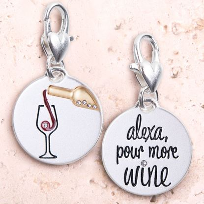 Picture of Silver 2-Tone Medallion - Alexa Wine