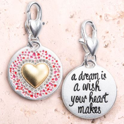 Picture of Silver 2-Tone Medallion - Heart Wishes