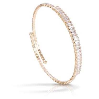 Picture of Baguette Single Spiral Bracelet -Gold