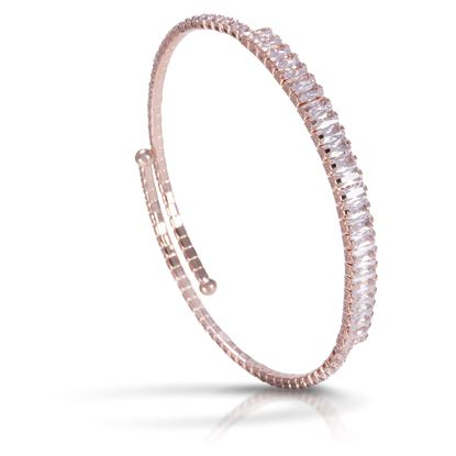 Picture of Baguette Single Spiral Bracelet -Rosegold
