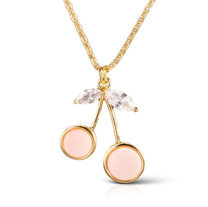 Picture of Cherries Necklace - Gold/Blush