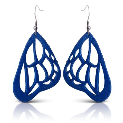 Picture of Butterfly Leather Earrings - Royal