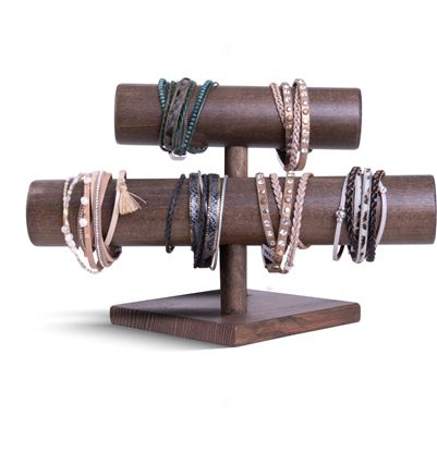 Picture of 2020 Fall Leather Bracelet Assortment 1 - WITH FIXTURE (2 each of 5 styles of Cuff Bracelets)