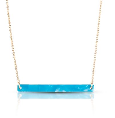 "Picture of 18"" Bar Necklace - Turquoise"