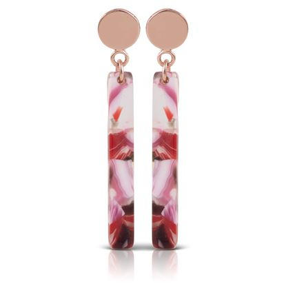 Picture of Bar Drop Earrings - Rose