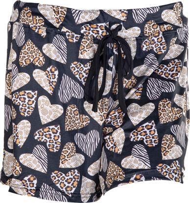 Picture of Pajama Shorts - Leopard Hearts