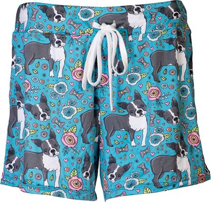 Picture of Pajama Shorts - Floral Puppy