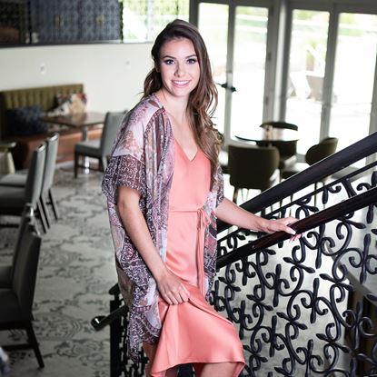 Picture of Paisley Print Kimono - Blush/Sage Sequin