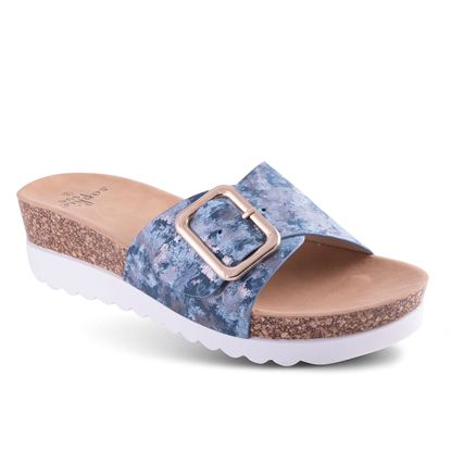 Picture of Buckle Wedge Sandal - 6-10 Size Run A (9 Pack) - Denim