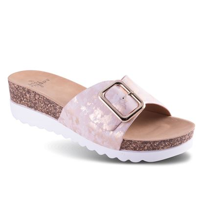 Picture of Buckle Wedge Sandal - 6-10 Size Run A (9 Pack) - Blush